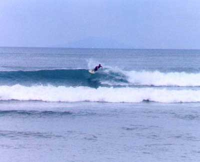 aurora surfing in baler bay